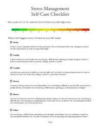 stress management worksheets handout stress management workshop