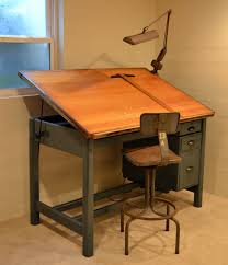 Drafting Table And Desk Vintage Industrial Tilt Top Drafting Desk Drawing Table