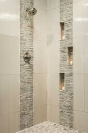 tiled bathrooms ideas the vertical large subway type tiles subtle shelves may