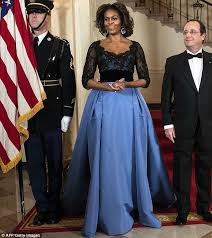 obama dresses obama wears 12 000 carolina herrera dress at white