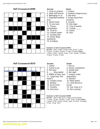 printable easy crossword puzzles with solutions new easy printable crossword puzzles best of printable in easy