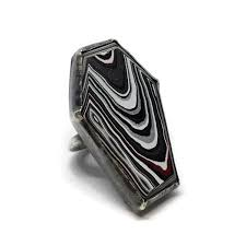 coffin ring fordite coffin ring with care jewelry