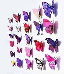 Home Decorative Accessories Uk 12pcs 3d Art Butterfly Decal Wall Sticker Home Decor Room