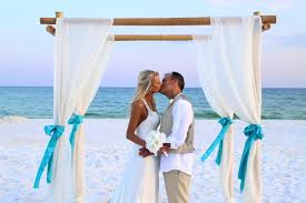 wedding arches bamboo decorated bamboo wedding arbor for your destin wedding