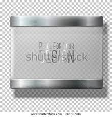 transparent vector glass plate metal holders stock vector