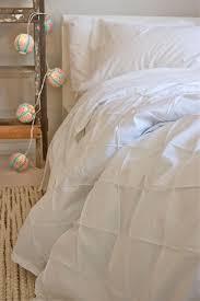 girls double bedding organic duvet cover in white