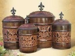 fleur de lis canisters for the kitchen fleur de lis canister set for the kitchen flour sugar coffee tea