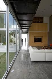 Concrete Floor Bathroom - concrete floors living room rustic with metal railing concrete floor