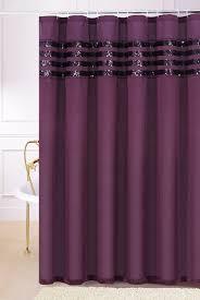 Plum Faux Silk Curtains Plum Purple Faux Silk Fabric Shower Curtain With Sequins Chd