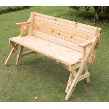 2 Chairs And Table Patio Set Outsunny 2 In 1 Interchangable Wooden Picnic Table Garden Bench