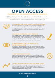 open access five principles for negotiations with publishers liber