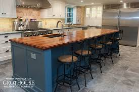 custom tigerwood kitchen island top in west chester pa
