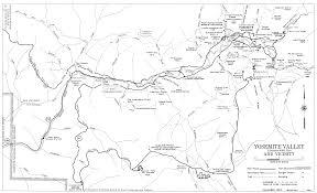 Yosemite Valley Map Yosemite Valley Automobile Guide Map 1963 Yosemite National Park