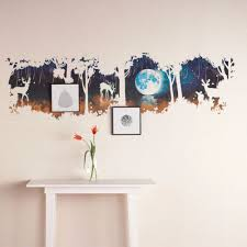 aliexpress com buy new arrival living room bedroom tree wall aliexpress com buy new arrival living room bedroom tree wall stickers creative forest deer wall stickers tv background large glass decorative wallp from