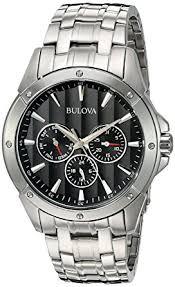 amazon watch list black friday amazon com bulova men u0027s 96c107 black dial stainless steel watch