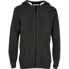 the newest river island grey waffle zip hoodie rave reviews