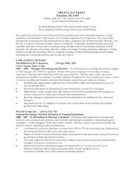 Hr Recruitment Resume Sample Recruiter Resumes Free Resume Example And Writing Download