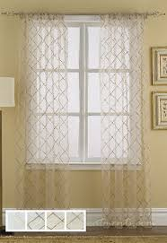 Shabby Chic Window Panels by Liona Sheer Curtain Drapery Panels Sheer Curtains Sheer Curtain