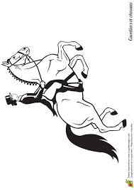 coloriage cavalier et chevaux une cavalière