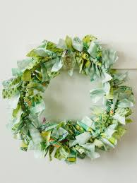 kids u0027 craft make an easy rag wreath hgtv