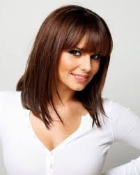 2017 layered haircut with bangs for medium length hair ideas
