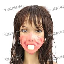 Rabbit Halloween Costume Scary Rabbit Teeth Face Halloween Costume Cosplay