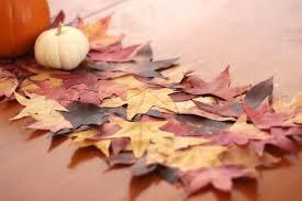 Leaf Table Runner Diy Table Runner Created With Real Fall Leaves U2013 Diyfix Org