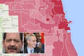 12th ward chicago map how chicago wards voted in the 2015 mayoral election map