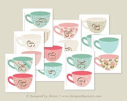 decorate your own tea cup spell your own alphabet tea cup banner printable decoration