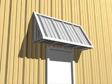 Building An Awning Over A Door Trims And Accessories Metal Buildings Components Mbmi