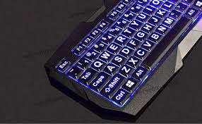 light up wireless keyboard wholesale usb large font illuminated backlit backlight low vision