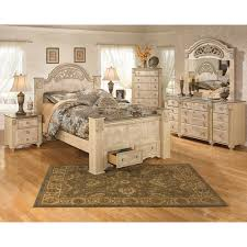 Marble Top Dresser Bedroom Set Queen Poster Bed 5 Pc Bedroom Package