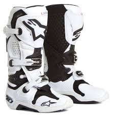 mx boots alpinestars mx boots tech 10 white vented 2018 maciag offroad