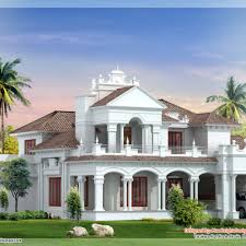 Luxury Colonial House Plans Luxury Colonial Style Home Design With Court Yard Home Colonial