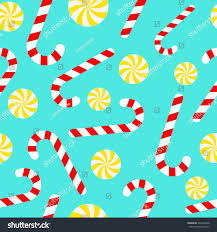 candy cane lollipops seamless christmas pattern stock vector