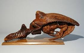 marco duran armadillo abstract wood sculpture large