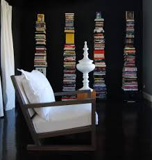 Home Theater Design Books Stacked Books Home Theater Contemporary With Sapien Bookcase Metal