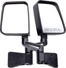 jeep wrangler mirrors jeep wrangler tj yj door mirrors pair 1987 2002 11002 03 rugged