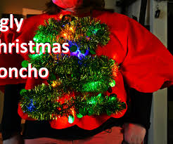 light up christmas tree ugly sweater poncho 6 steps with pictures