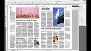 in design indesign cs 5 5 skład gazety setting newspaper