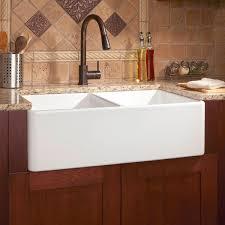 Reinhard DoubleBowl Fireclay Farmhouse Sink White Kitchen - Kitchen farm sinks