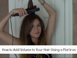 how to get a lifted crown hairdo how to add volume to your hair using a flat iron youtube