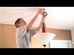 How To Replace A Chandelier With A Light Fixture Home Help How To Replace A Ceiling Light Fixture Youtube