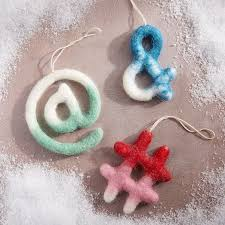 ombre felt ornaments symbols west elm