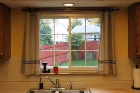 Curtain For Kitchen Window Decorating Amazing Kitchen Window Treatment And Brown Curtain Picture For