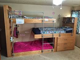 Dorm Room Loft Bed Plans Free by Best 25 Triple Dorm Ideas On Pinterest 3 Bunk Beds Triple Bunk