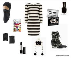 Black White Striped Halloween Costume Minute Halloween Guide 10 Costumes
