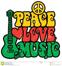 reggae peace love music stock vector image 40558210