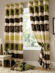 Cream Embroidered Curtains Brown Cream And Green Curtains Integralbook Com