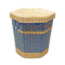 cane laundry hamper big rattan and scoubidou basket the rocking company